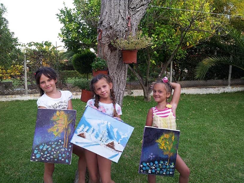 картины маслом рисуют дети