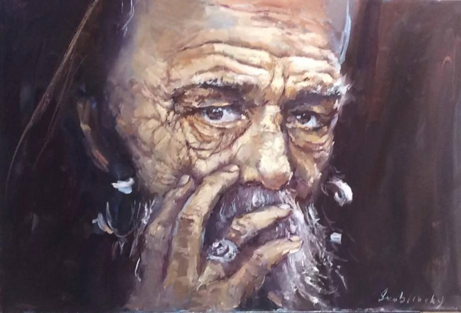 Картина маслом Старик
