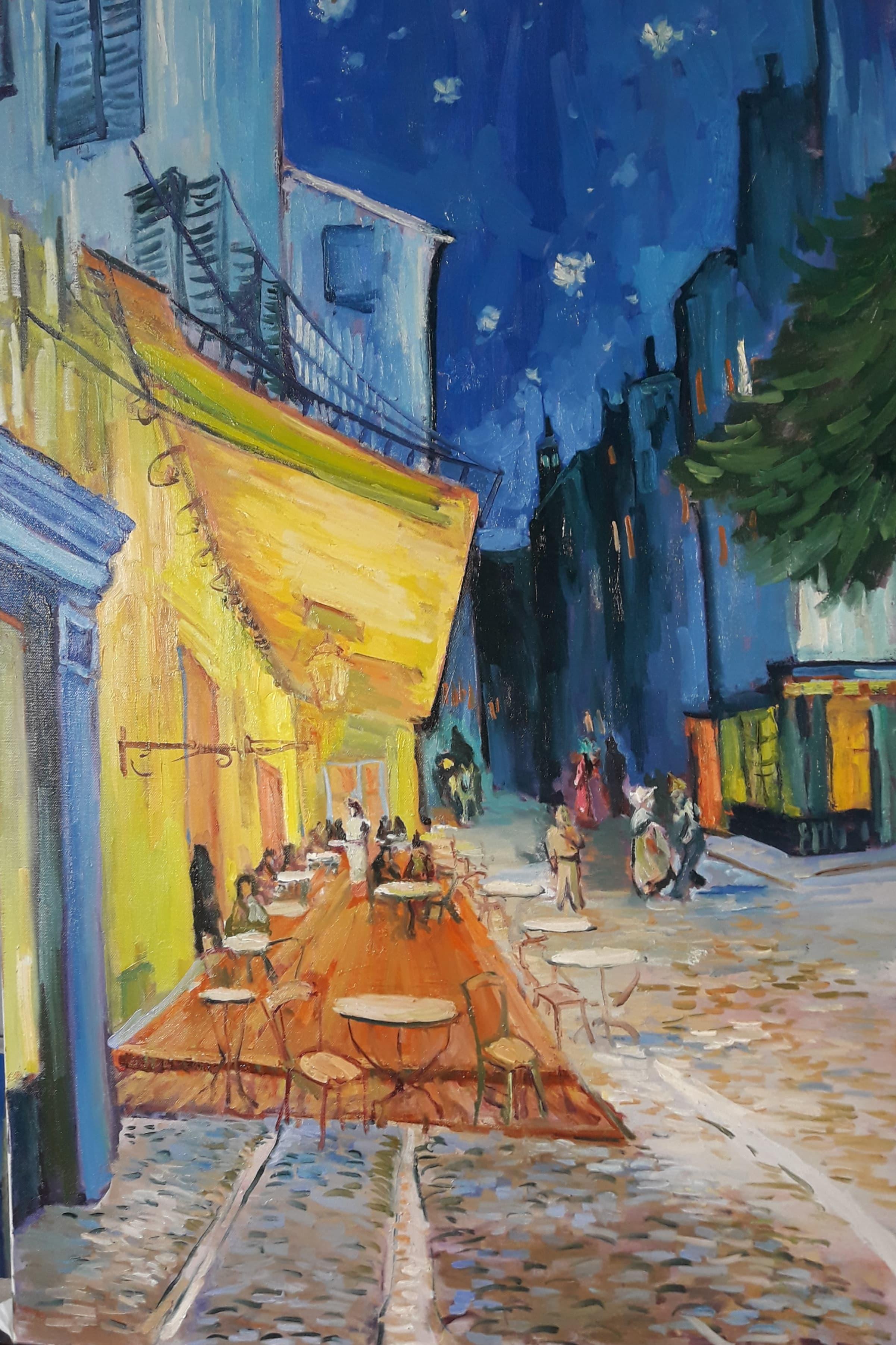 Ван Гог. Кафе на арле. свободная копия картины