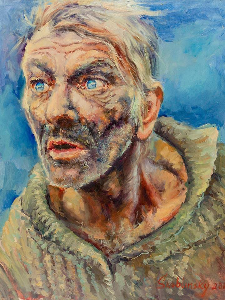 портрет мужчины Макса Скоблинский.холст.масло