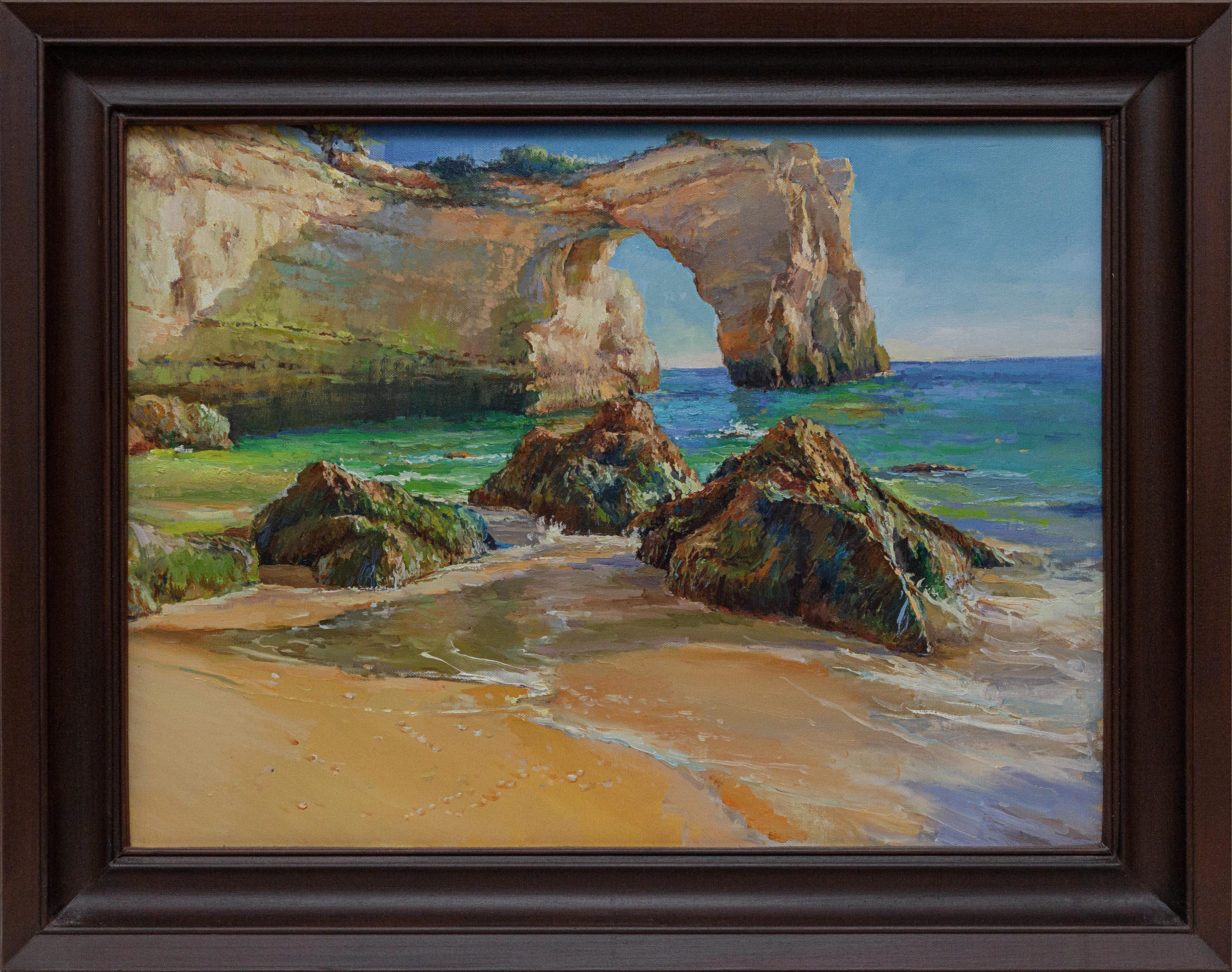 Картина Скалистый пляж