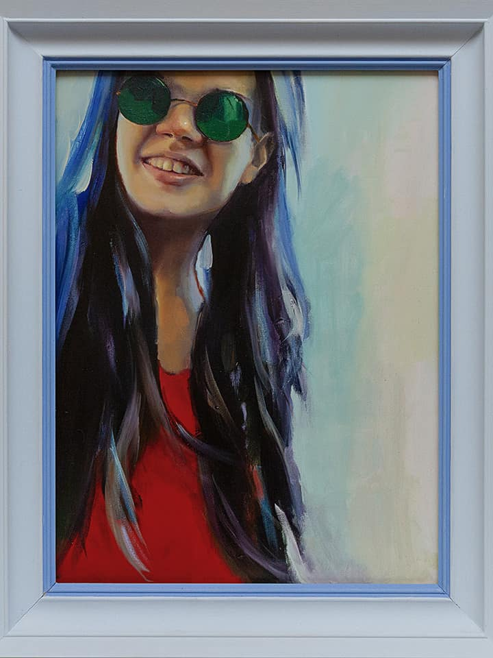 картина маслом портрет дочери