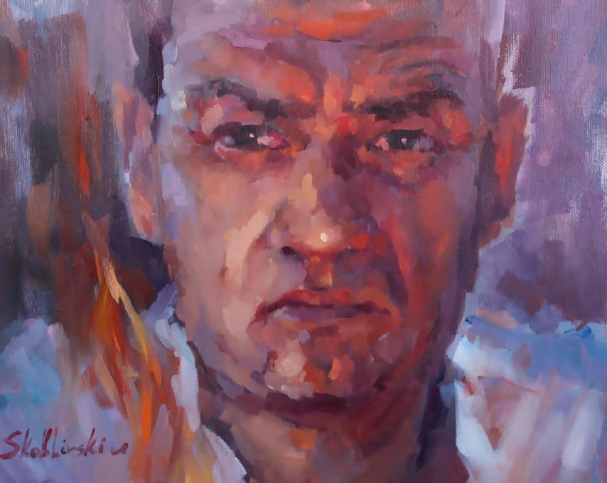 автопортрет маслом на холсте Макса Скоблинского