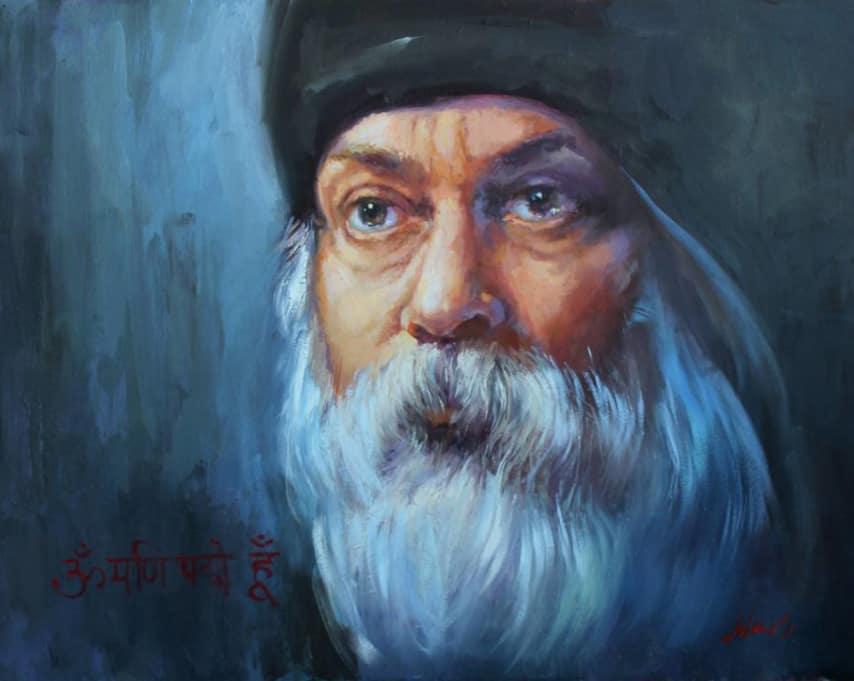 портрет Ошо написан художником Скоблинским