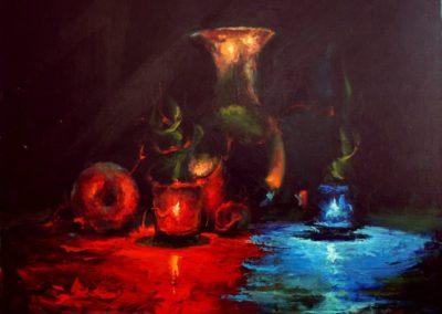 видеоуроки живописи и рисования маслом натюрморт