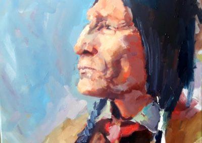 Картина маслом портрет Индейца