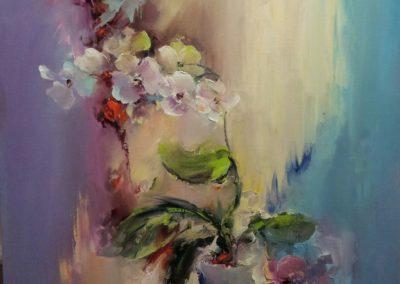 Орхидеи цветы.писать маслом картина Макса Скоблинскогомаслом