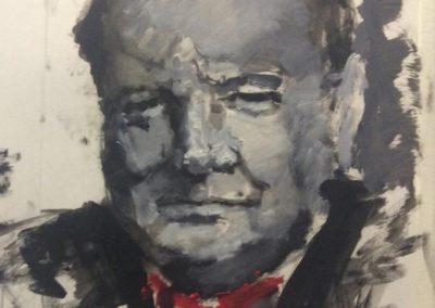Портрет мужчины маслом Черчиля поэтапно пошагово для начинающих взрослых
