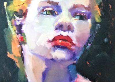 современный художественный арт портрет